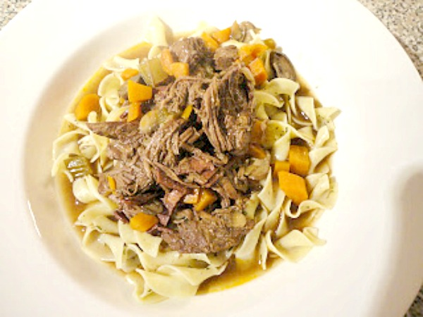 Recipe for Boeuf Bourguignon Soup - A shortened version of Julia Child's recipe, this is a hearty soup made with beef short ribs.