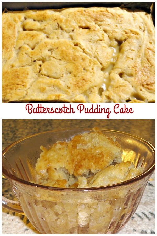 Butterscotch Pudding Cake - This is one of the best pudding cake recipes you'll ever make! It bakes up quickly, making it perfect for unexpected company. Get the recipe from @basilmomma