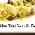 Chicken Fried Rice with Leeks and Cranberries - Recipe on basilmomma.com