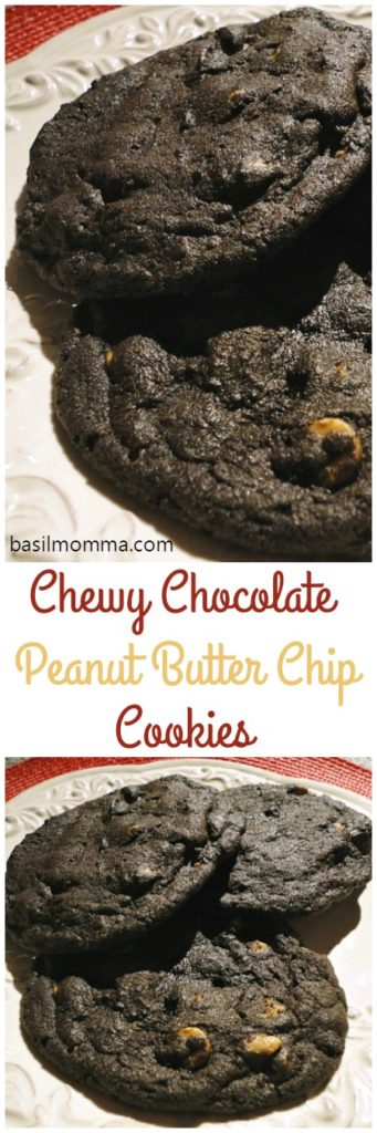Chewy Chocolate Peanut Butter Chip Cookies | Basilmomma.com
