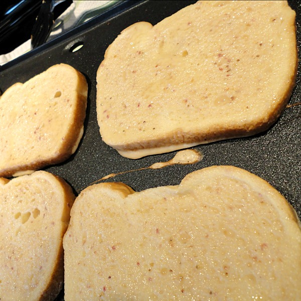 """French toast is also healthier with a sprinkling of milled flax seed onto the bread before grilling. This adds a healthy """"oomph"""" of fiber, and your kids won't even notice it!"""