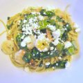 Garlic Shrimp Saute with Spinach and Feta - A quick and easy pasta dinner! Get the recipe from basilmomma.com