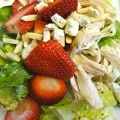 Strawberry Grilled Chicken Salad Recipe, from basilmomma.com