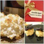 Chocolate Dipped Coconut Macaroons | Recipe on basilmomma.com