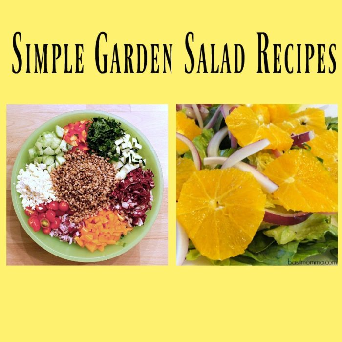 Simple Garden Salad Recipes