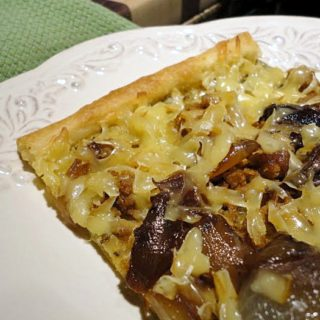 Sausage Caramelized Onions Smoked Gouda Pizza