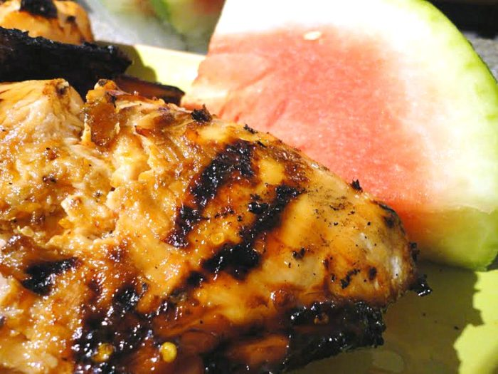 Watermelon Marinated Grilled Chicken