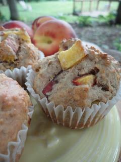 Morning Glory…. Fresh Peach Muffins