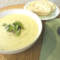 Creamy Cauliflower Potato Leek Soup Recipe \\ Basilmomma.com