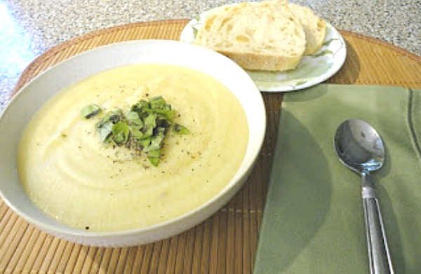 Creamy Cauliflower Potato Leek Soup Recipe - Just one in a collection of recipes using Spring vegetables on basilmomma.com