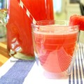 Fresh Watermelon Lemonade - A family friendly, refreshing summer drink. Get the recipe from @basilmomma