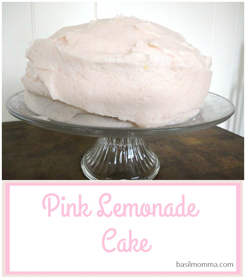 Pink Lemonade Cake - recipe from basilmomma.com