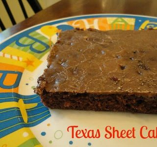 Texas Sheet Cake and a Little Eight Year Old Humor