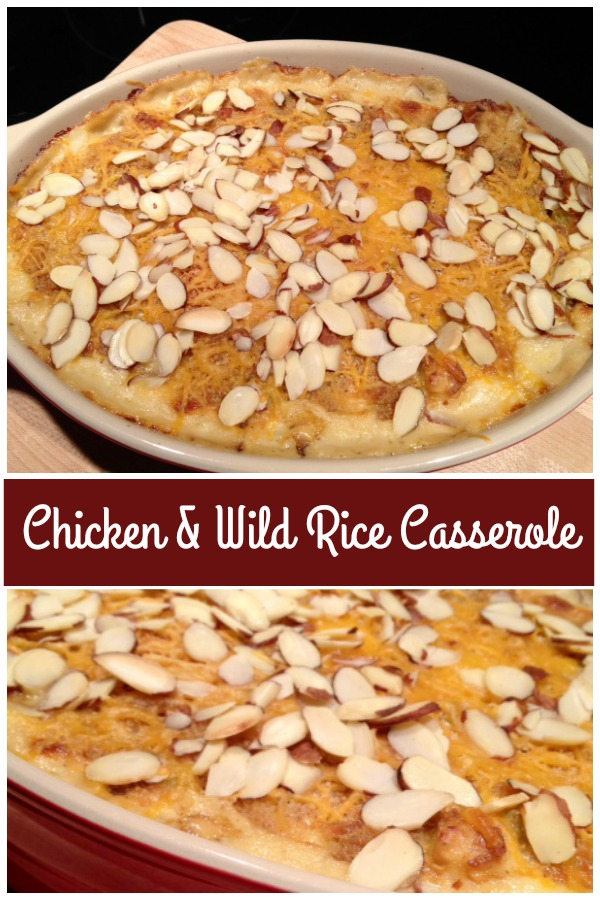 This chicken casserole with wild rice is a great way to use up leftovers from your pantry or refrigerator. Great recipe to make with Thanksgiving leftovers! Get the recipe from @basilmomma