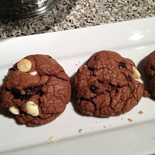 Double Chocolate Plum Cookies