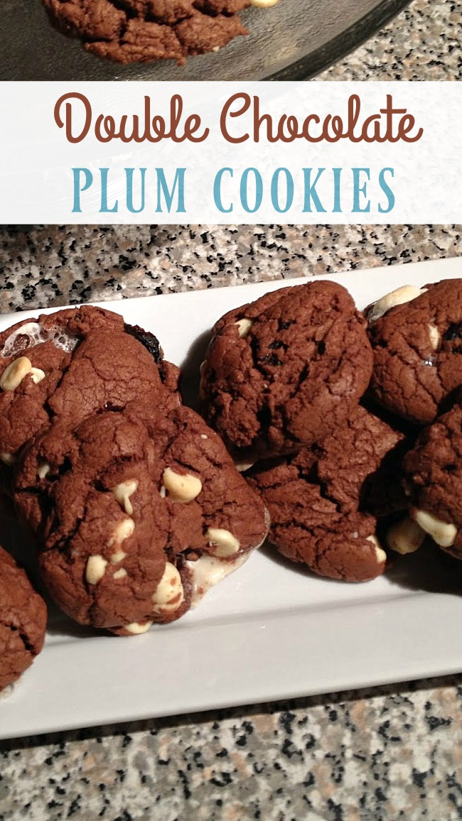 Double chocolate plum cookies are a delicious and healthy snack or ...