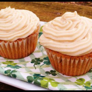 St. Patrick's Day…and a bit of Bailey's Irish Cream Cupcakes