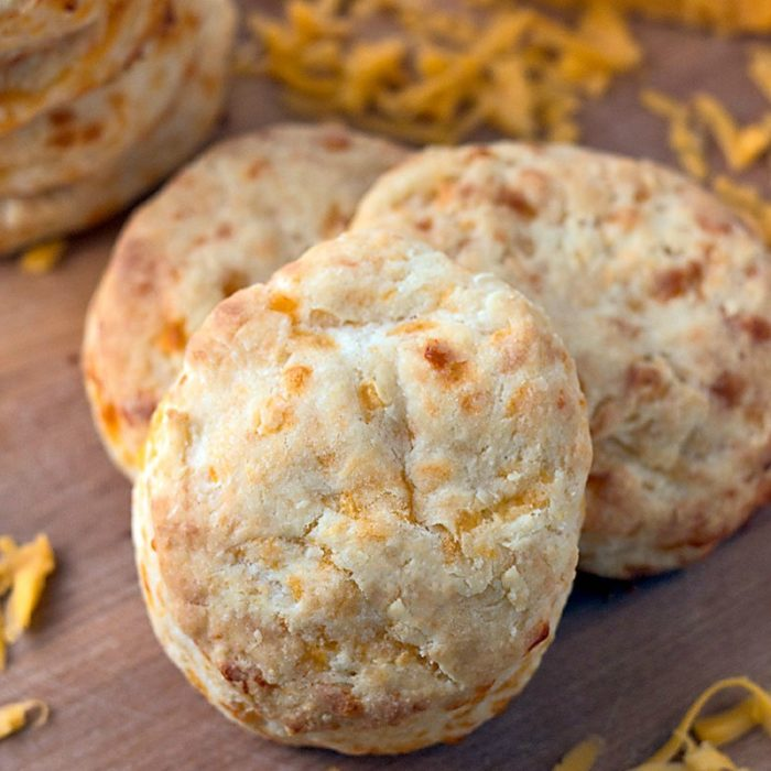 Making these flaky, cheesy, Cabot cheddar cream homemade biscuits takes just 30 minutes from start to finish!