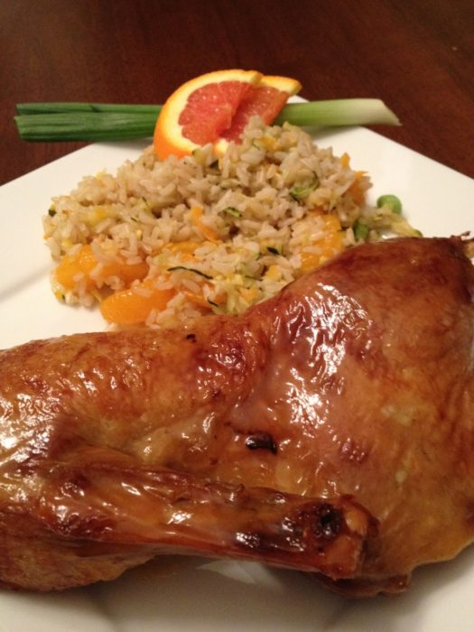 Crispy Orange Glazed Roasted Duck | Basilmomma.com