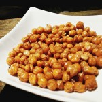 Bacon Roasted Chickpeas - A delicious snack that is really one of the best recipes with bacon that I've ever eaten! Get the recipe on basilmomma.com