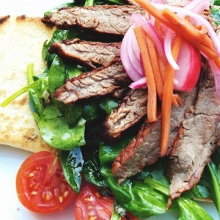 "Deconstructed Steak Sandwich ""Stack-Ups"""