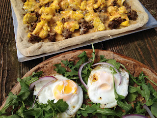 Breakfast Pizza and a Staycation…..