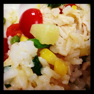 I'm BACK…A Quick and Healthy Lunchbox Salad!