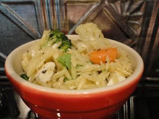 Orzo with Fresh Vegetables, Lemon and Orzo