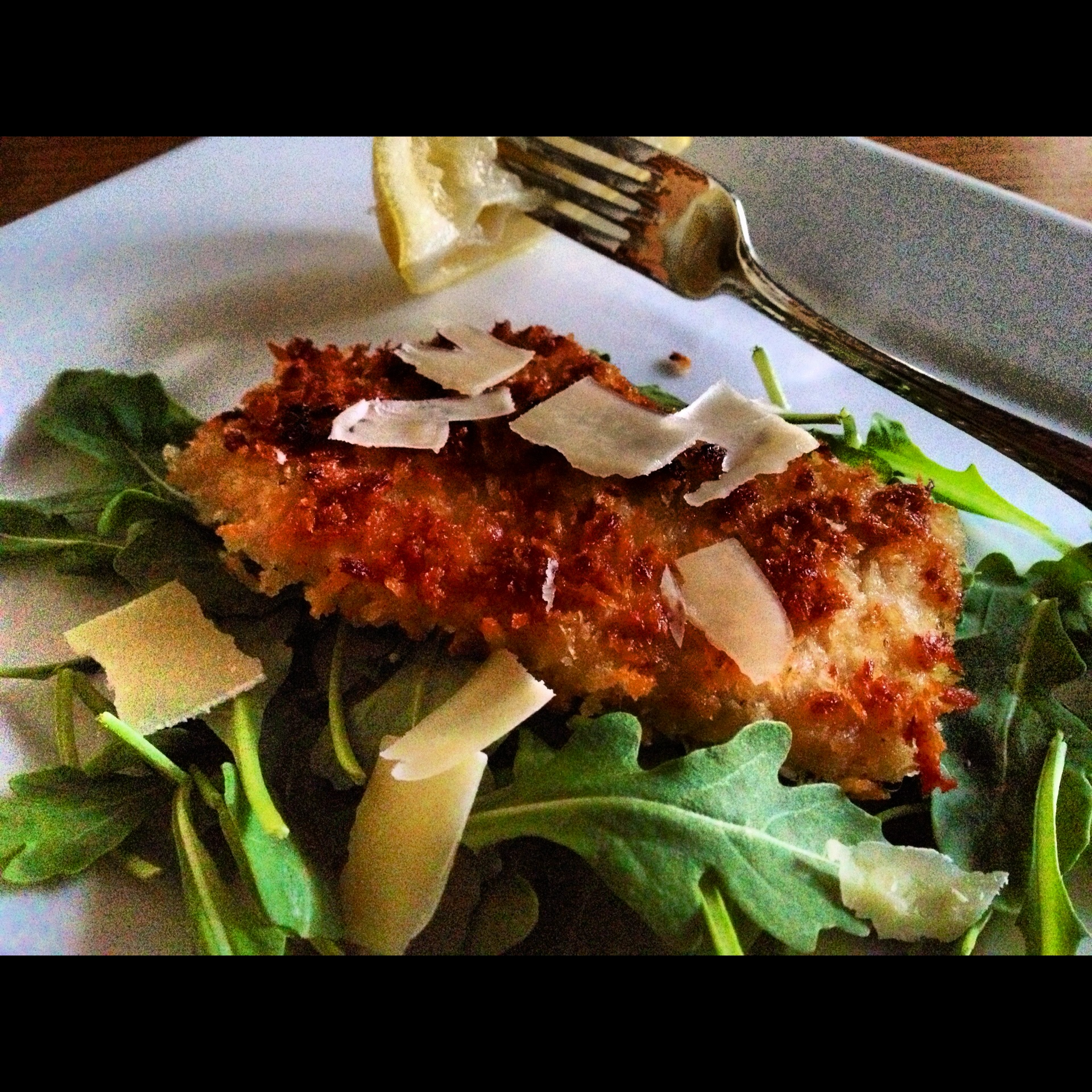 Pork Loin Milanese with Arugula Salad