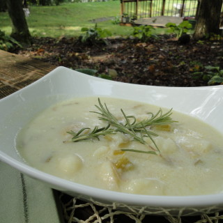 Potato Blue Cheese Soup