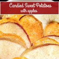 Candied Sweet Potatoes with Apples - This is one of our family's favorite Thanksgiving side dish recipes! Thinly sliced sweet potatoes and apples are sweetened with apple cider and brown sugar, then baked up until they're hot and bubbly.