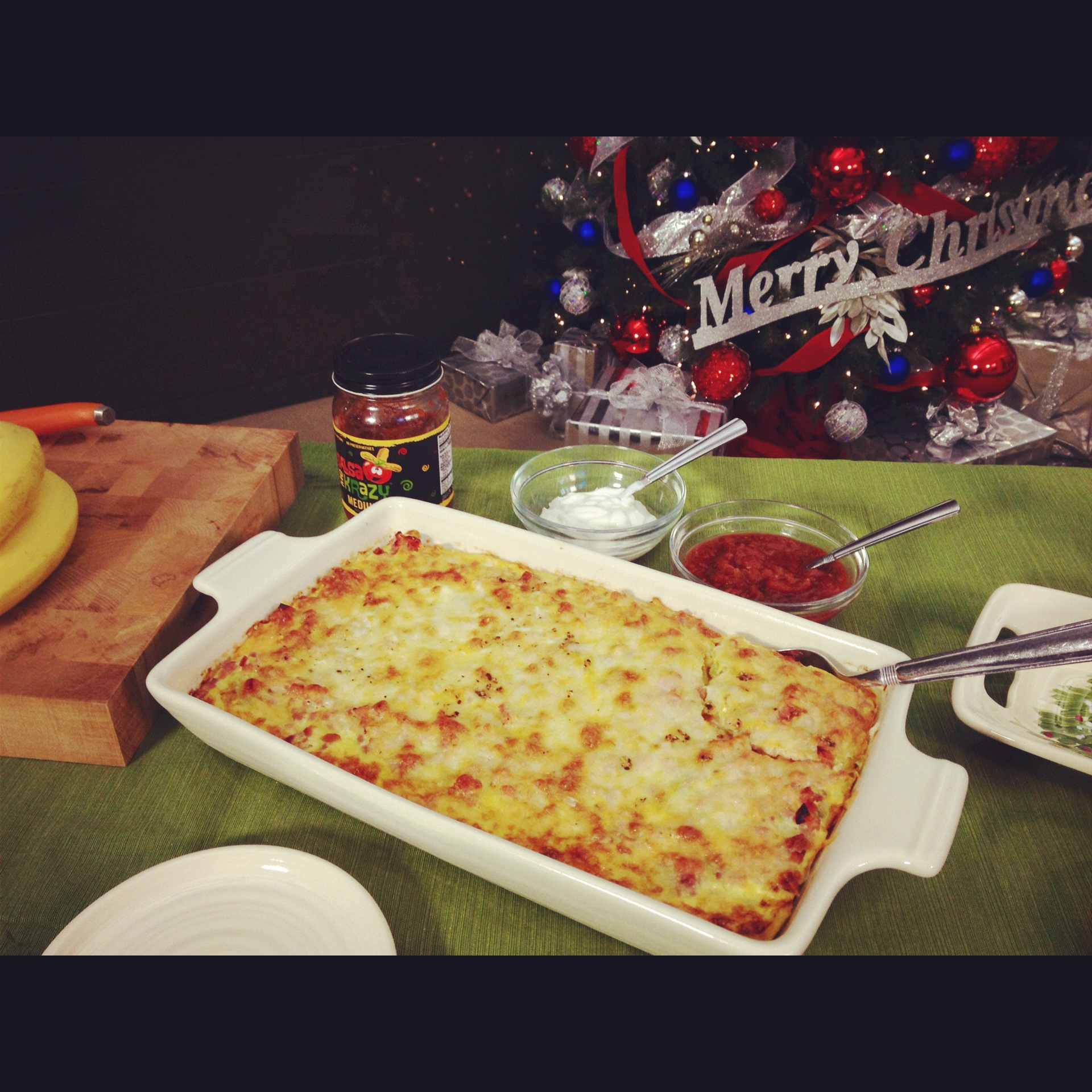 And with a bit of salsa, I used my favorite-Salsa me Krazy, this is one zesty breakfast!