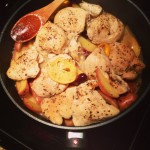 Easy cooking in my Swiss Diamond skillet!