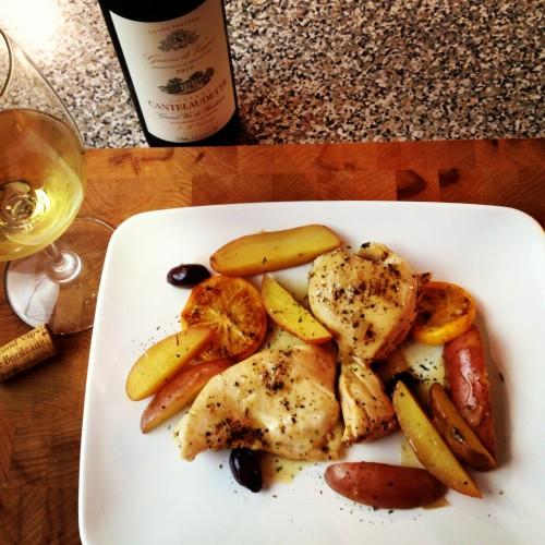 Meyer Lemon Chicken Recipe, from @basilmomma