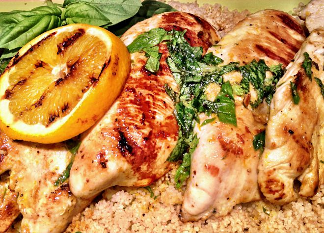 Orange Basil Grilled Chicken Recipe - A healthy and delicious meal for summer grilling (or any time of the year!)