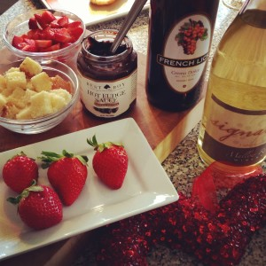 Fruit and Fudge Dessert Shooters - just one of the easy recipes for Valentine's Day on basilmomma.com