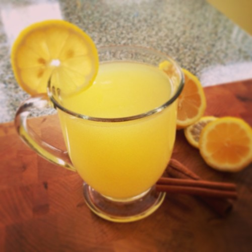 Slow Cooker Hot Lemonade Recipe - A kid-friendly warm beverage to warm you up on a cold night.
