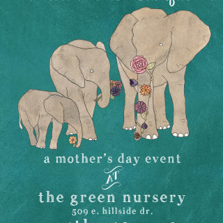 Gathering~  A Mother's Day Event at The Green Nursery in Bloomington, Indiana