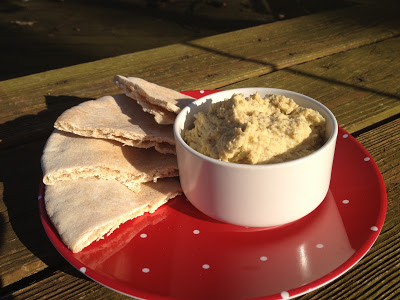 Ranch Hummus Dip - An easy to make snack that is perfect as an after-school snack for kids, too.