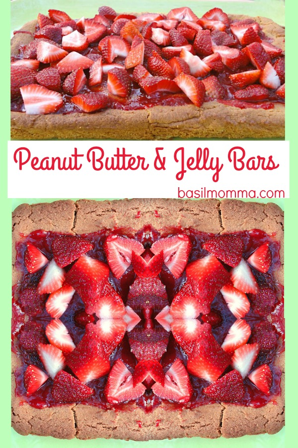 Peanut Butter and Jelly Bars with Fresh Strawberries