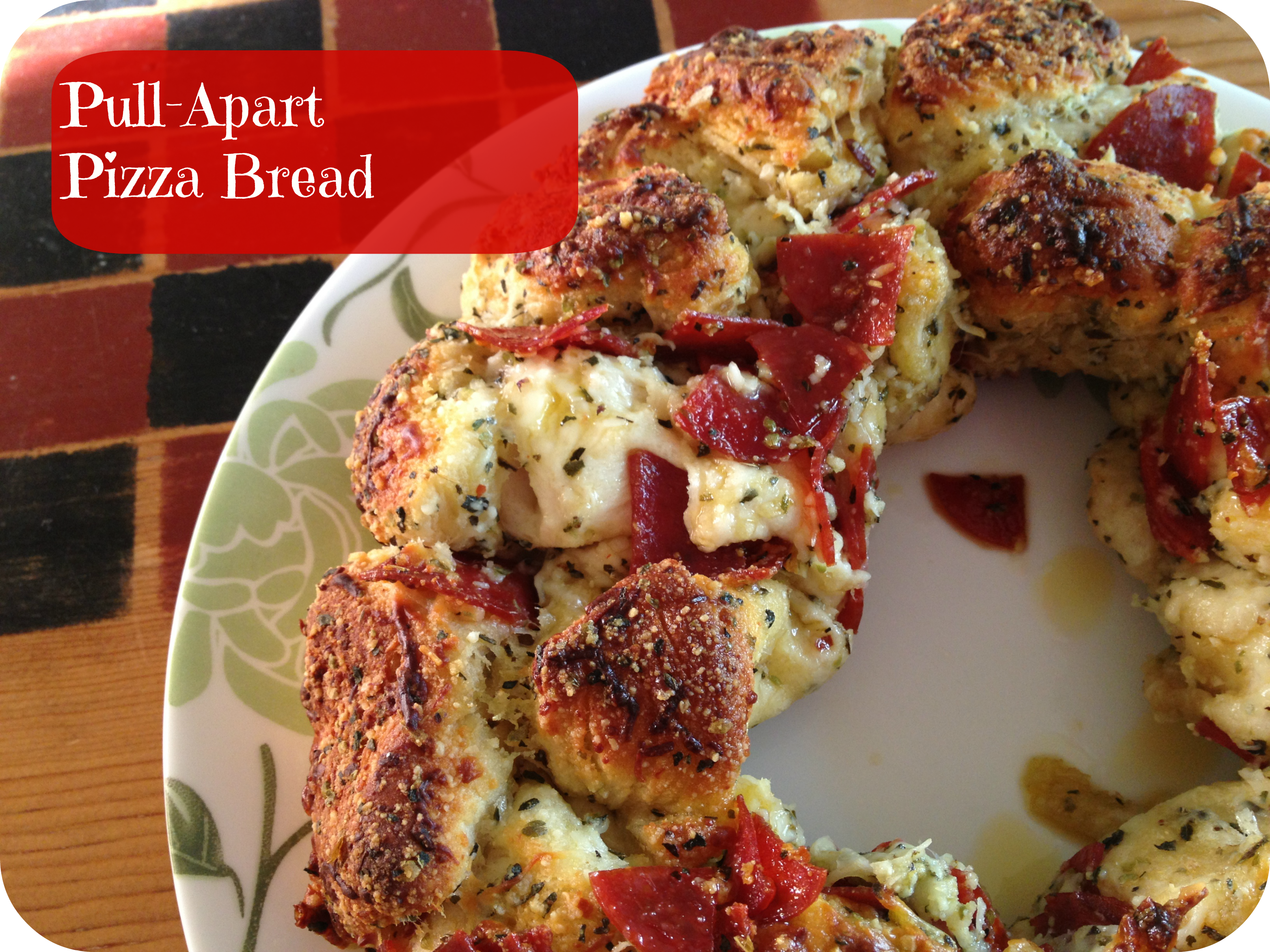 Pull-Apart Pizza Bread~ Garfield: Recipes with CATtitude by Gooseberry ...