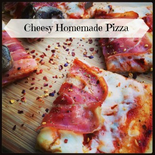 Cheesy Homemade Pizza to Celebrate National Dairy Month