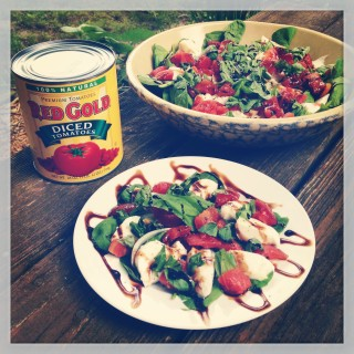 Tossed Caprese Salad from Red Gold Tomatoes