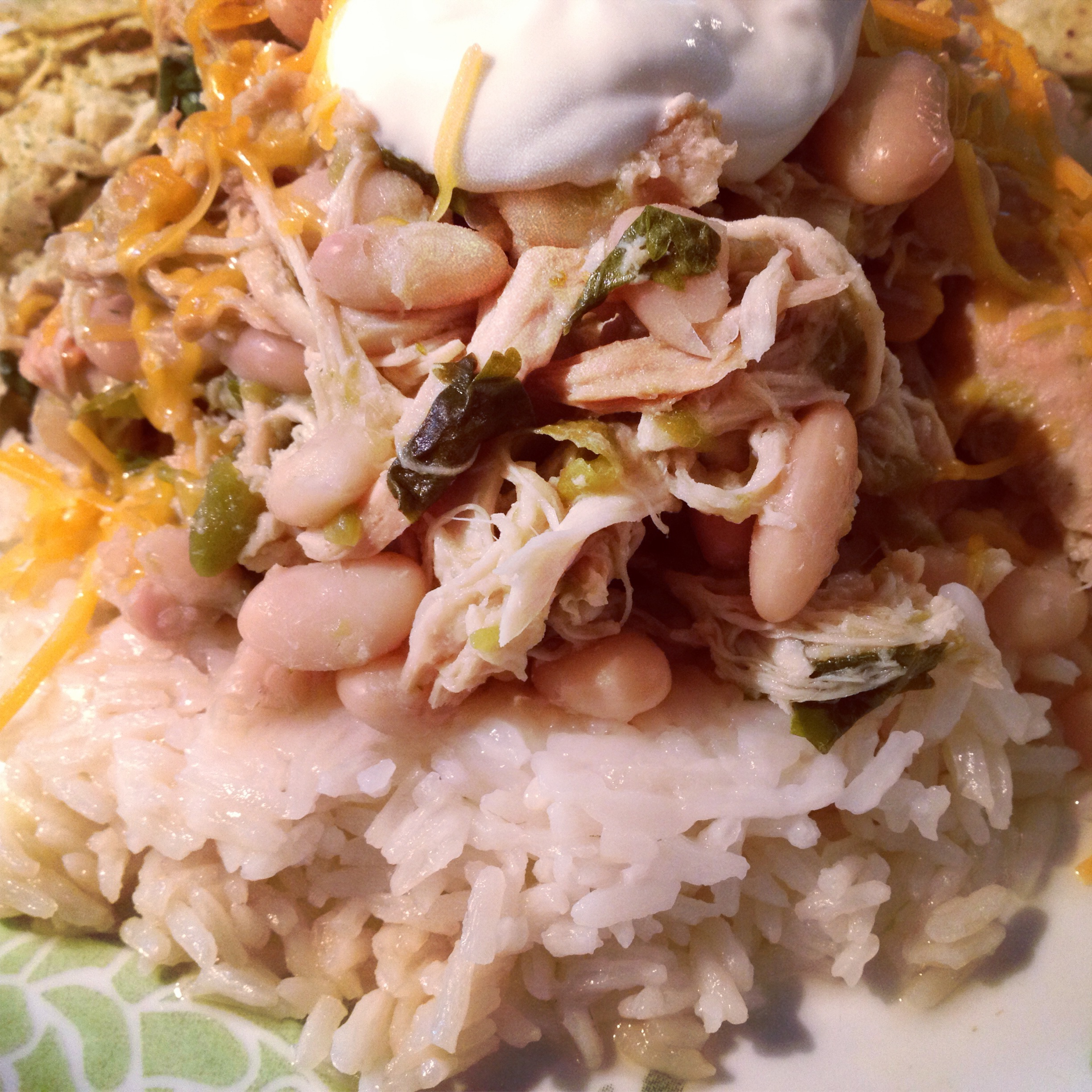 Slow Cooked White Bean and Green Chili Chicken