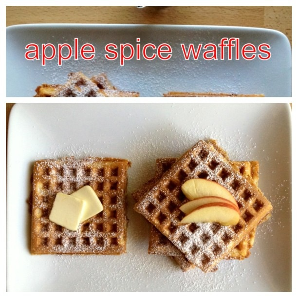 Autumn Apple Waffles