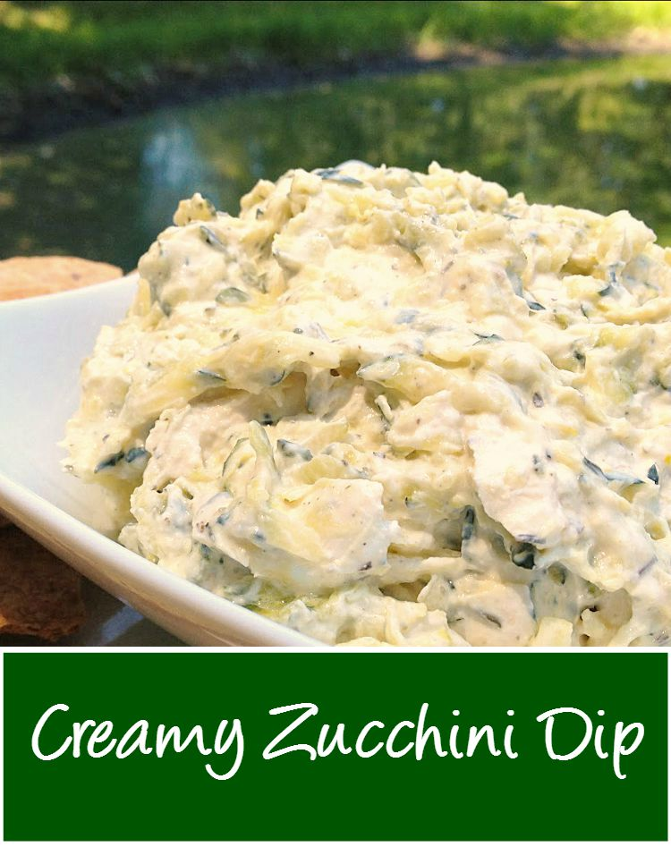 Easy Zucchini Dip from @basilmomma (www.basilmomma.com) - This creamy cold dip is a great way to use up lots of zucchini or yellow squash from your garden. It's great as a sandwich spread, too!