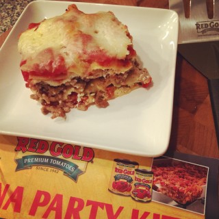 All in One Lasagna from Red Gold Tomatoes #RGLasagna