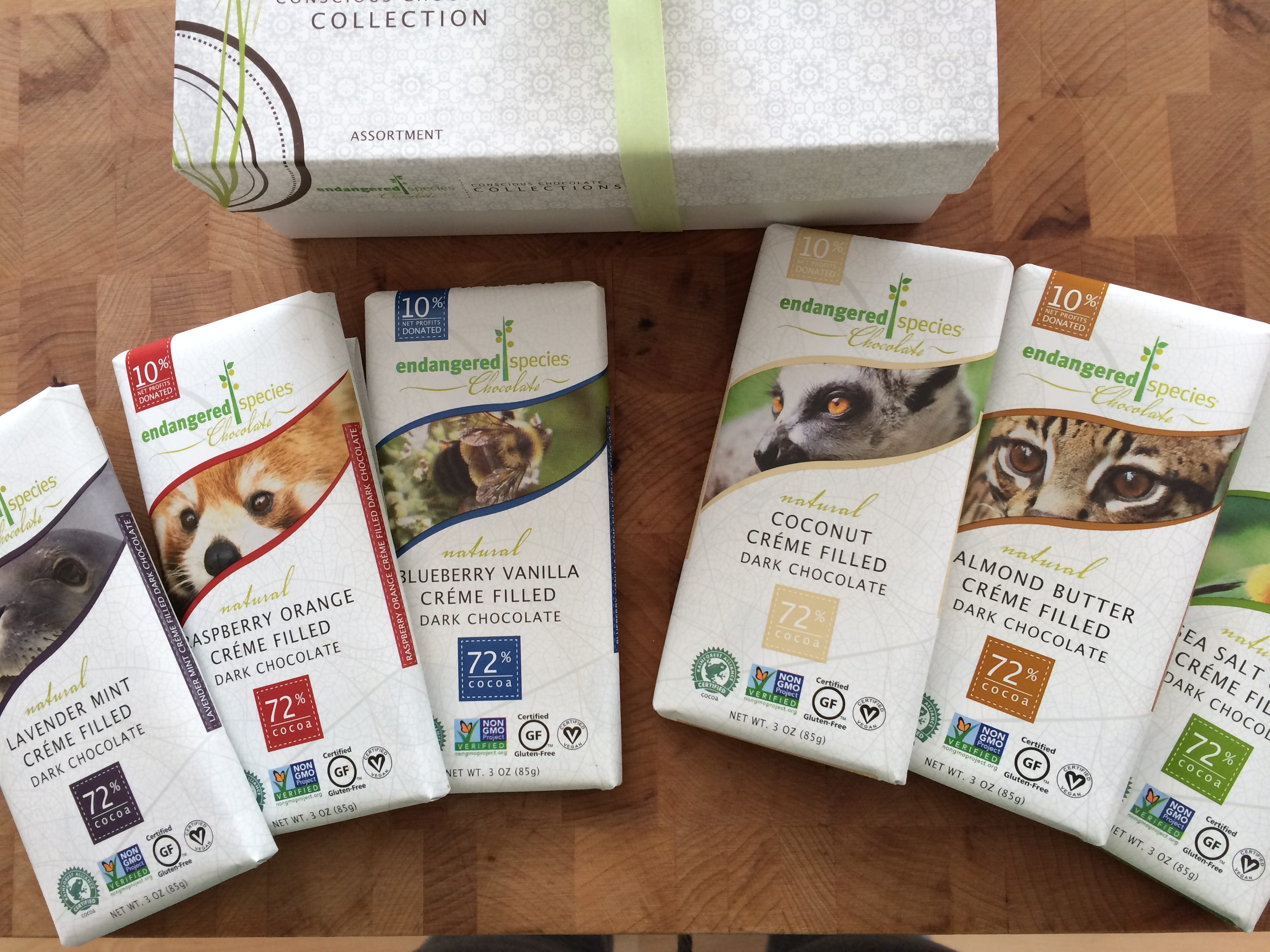 NEW Dairy-Free Cream Filled Chocolate Bars From Endangered Species ...