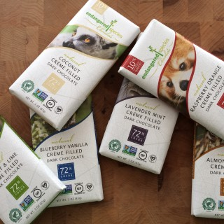 NEW Dairy-Free Cream Filled Chocolate Bars From Endangered Species Chocolate