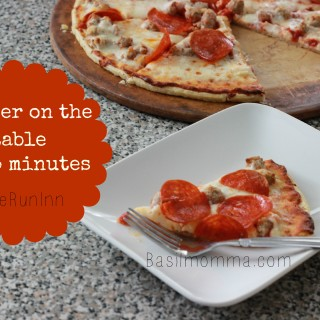 Busy Weeknight Answer is Sometimes Frozen Pizza! #HomeRunInn AD